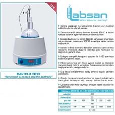 BALON ISITICI Manyetik Karıştırıcılı Hassas Sıcaklık Kontrollü 2000 mL/1400 rpm/450 °C  <İSOLAB>