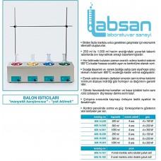 ISOLAB 4 GÖZLÜ BALON ISITICI 4 X 1000 mL/450 °C